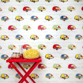 Paula Coop wallpaper collection, Happy Camper